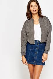 Quilted Cropped Bomber Jacket - Just £5 & Quilted Cropped Bomber Jacket Adamdwight.com