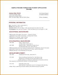 Formal Resume Format Download Letter Format Template
