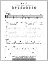 bully shinedown for guitar with tab by b smith dave bassett