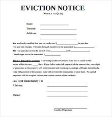 Eviction Notices Template Sample Eviction Notice Template 100 Free Documents in PDF Word 4