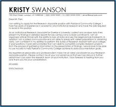 Exciting Cover Letter For Research Assistant As Sample Cover