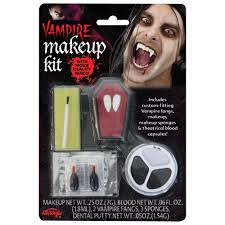 quality vire make up kit with fangs theatrical blood horror costume accessory preview
