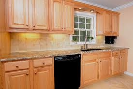 painted kitchen cabinets with black appliances. Kitchen Paint Color Ideas With Light Oak Cabinets Painted Black Appliances A