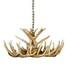 whitetail deer 12 antler cascade chandelier