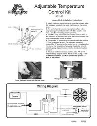 flex a lite controller wiring diagram flex image flex a lite 31147 adjustable 12v electric fan switch on flex a lite controller wiring