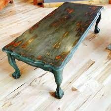 vintage painted coffee table rustic