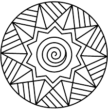 Small Picture Mandala Coloring Page With Simple Coloring Pages esonme