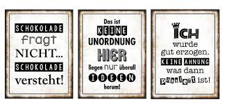 3er Set Wandbild Sprüche Je 26 X 35 Cm Blechschild Vintage Shabby