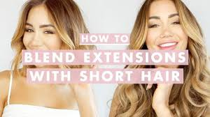 How To Clip In and <b>Blend Hair Extensions</b> With Short Hair | Luxy ...