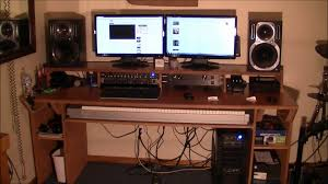 Make Your Own Computer Desk Interior Great Looking Home Music Studio Design With White