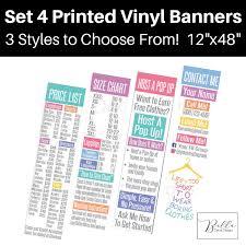 Llr Banner 4 Llr Price List Size Chart Host A Pop Up And Contact Banner Vinyl Banners Llr Pop Up Pop Up Boutique