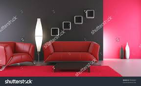 Living Room Setting Living Room Setting Couch Armchair Face Stock Illustration