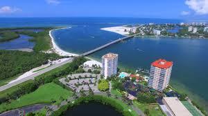 Aerial Footage Of Big Carlos Pass Bridge And Lovers Key Resort