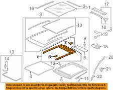 volkswagen gti car truck sunroofs hard tops soft tops vw volkswagen oem 2015 gti sunroof frame 8v5877049b fits volkswagen gti