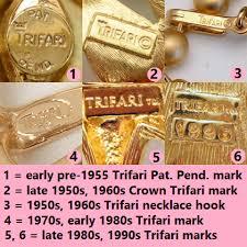 trifari vine jewelry signatures