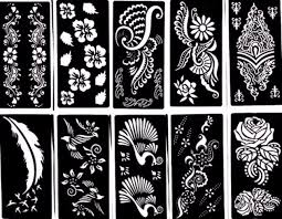 Stencil Designs Buy Online Tattoo Stencil 10 Sheet Henna Designs Temporary Tattoo Self Adhesive Template