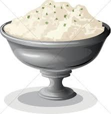 mashed potato clipart. Brilliant Potato Bowl Of Mashed Potatoes Throughout Potato Clipart