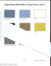 Details About Royal Navy 2 Ww2 Ship Color Paint Chip Charts 2 Sheets 16 Colors New