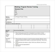 Free 8 School Agenda Samples In Pdf Word