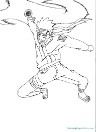 Naruto Color Pages Color Pages Anime Coloring Pages Six Paths