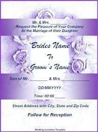 Invitation Cards Template Free Download Wedding Invitation Card Template Free Download Verbeco Sample
