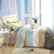 brown and blue bedding white yellow brown and light blue tribal pattern bohemian style exotic brushed