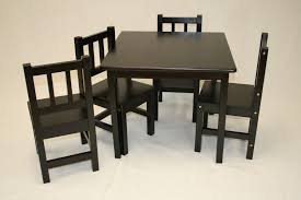image of modern kids table black
