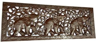 tropical home decor carved wood wall art elephant wood carved carved wood wall art elephant wood