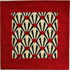 Red White And Black Quilt Ideas Black Red And Cream Silk Miniature ... & Red White And Black Quilt Ideas Black Red And Cream Silk Miniature Fan Quilt  Black White Adamdwight.com