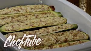 Como Cocinar Calabacin Relleno   Receta En La Descripción   YouTube