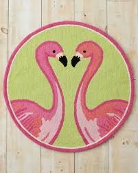 lilly pulitzer flamin go go hooked wool rug