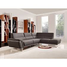 modern sofas for living room. Divani Casa Navarro Modern Brown Fabric Sectional Sofa W/ Right Facing Chaise Sofas For Living Room