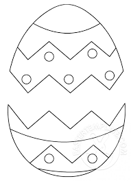Cracked Easter Egg Template Easter Template