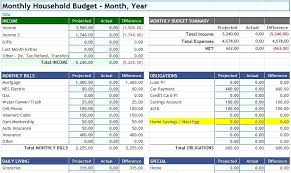 Household Budget Spreadsheet Templates Excel Accounts Template ...