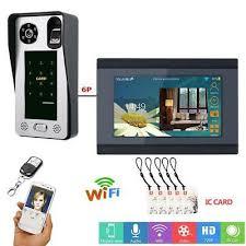 <b>7 Inch Wired Wifi</b> Fingerprint IC Card Video Door Phone Doorbell ...