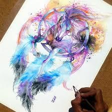 Purple Dream Catcher Tattoo Drawn dreamcatcher watercolor Pencil and in color drawn 86