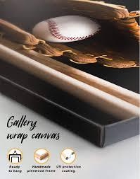 baseball bats canvas wall art