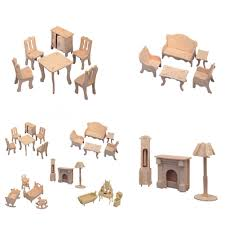 miniature dollhouse furniture woodworking. Hot Sale Educational Dollhouse Furniture Toy Wood Building Model Home Decoration Crafts Doll House Mini Miniature Furniture-in Figurines \u0026 Miniatures From Woodworking U