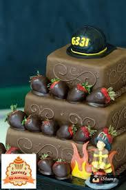 Fireman Grooms Cake Chocolate Wedding Cakes Firef