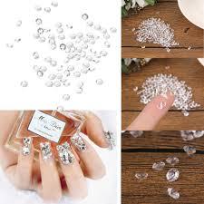 3D Crystal Clear Diamond Nail Art Tips Rhinestone Decorations ...