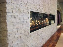 white quartz rock panel natural stacked stone veneer for wall cladding great for dining room transition to the kitchen
