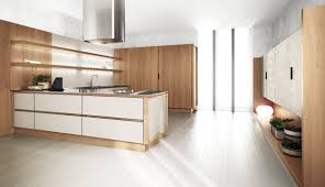 Light Wood Kitchen Kitchen Contemporary Oak Kitchen Cabinets Simple Brown Color