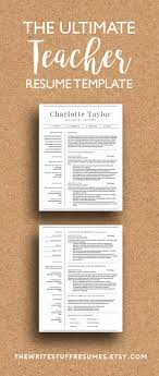 best ideas about teacher resume template resume teacher resume template cv template ms word professional resume design cover letter mac or pc 2 page resume instant
