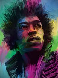 jimi hendrix digital oil painting by jonathanrudolph