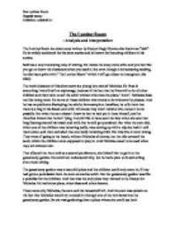 short story interpretation essay example of a literary analysis essay
