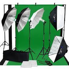 lighting set. Photo Video Studio Photography Continuous Lighting Kit Muslin Backdrop Stand Set