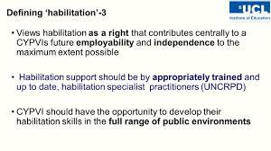habilitation specialist developing habilitation standards across scotland training