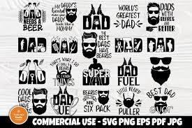 No physical item will be sent in mail. Fathers Day Svg Beard Svg Dad Signs Beer Svg Bbq Svg 590821 Cut Files Design Bundles