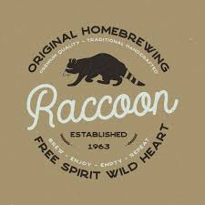 Wild Animal Badge With Raccoon And Typography Elements Beer