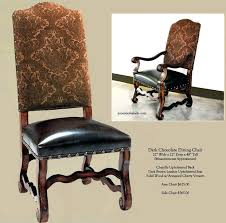 brown leather dining room chairs old world upholstery and arm brow